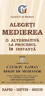 CATALIN  GAMAN - Birou de Mediator  Mediatori