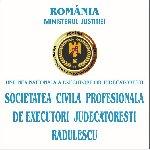 SOCIETATEA CIVILĂ PROFESIONALĂ DE EXECUTORI JUDECĂTORESTI RĂDULESCU   Executori judecatoresti